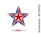 the design element star with... | Shutterstock .eps vector #85735922