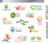 nature. icon set. | Shutterstock .eps vector #85736123