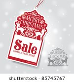 christmas sale tag | Shutterstock .eps vector #85745767