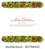 christmas garland frame | Shutterstock .eps vector #85746442