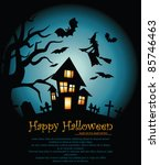 vector illustration halloween... | Shutterstock .eps vector #85746463