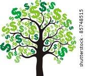 Money Tree Isolated On White...