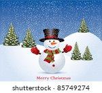 vector christmas illustration... | Shutterstock .eps vector #85749274
