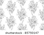 hand drawn floral wallpaper... | Shutterstock .eps vector #85750147