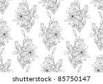 hand drawn floral wallpaper... | Shutterstock .eps vector #85750147