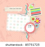 Vector Scrapbook Page For Girl...