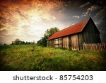 Old Wooden Bar With Red Roof...