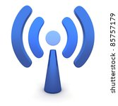 abstract wi fi on white... | Shutterstock . vector #85757179
