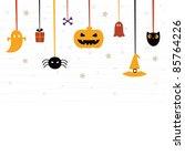 cute halloween card | Shutterstock .eps vector #85764226
