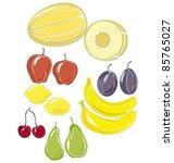 fruit | Shutterstock .eps vector #85765027