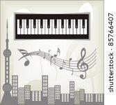 nice background design city   Shutterstock .eps vector #85766407