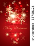 abstract christmas card. | Shutterstock .eps vector #85768126