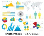 info graphic set with colorful... | Shutterstock .eps vector #85771861