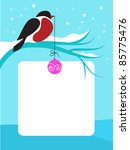Red Chest Bird On Branch With...