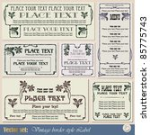 vintage style labels on... | Shutterstock .eps vector #85775743
