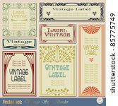 vintage style labels on... | Shutterstock .eps vector #85775749