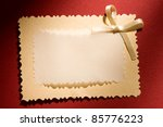 greeting card isolated on the... | Shutterstock . vector #85776223
