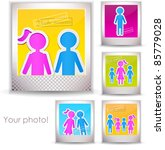 colorful family photo | Shutterstock .eps vector #85779028