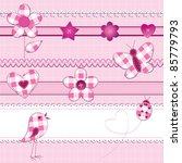 a set of 15 scrapbook elements  ... | Shutterstock .eps vector #85779793