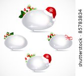 speech bubbles with christmas... | Shutterstock .eps vector #85783834