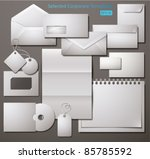 selected corporate templates.... | Shutterstock .eps vector #85785592