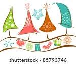 Christmas Trees Line And...