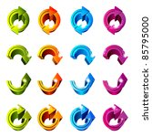 set of icons. color arrows... | Shutterstock . vector #85795000