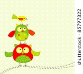 template greeting card  vector... | Shutterstock .eps vector #85797322