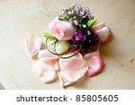 bridal bouquet  wedding flower | Shutterstock . vector #85805605