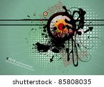 grunge abstract textured vector ...