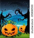 halloween pumpkin vector   Shutterstock .eps vector #85808500
