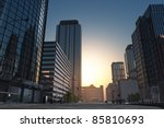 the modern buildings of the...   Shutterstock . vector #85810693