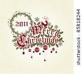 merry christmas   Shutterstock .eps vector #85818244