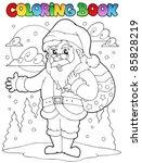 coloring book santa claus theme ... | Shutterstock .eps vector #85828219