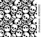 skulls pattern  abstract... | Shutterstock .eps vector #85832002