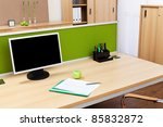Monitor On A Desk In A Modern...