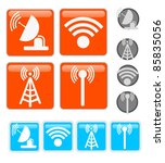signal icons | Shutterstock .eps vector #85835056