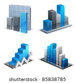 charts and graphs collection....   Shutterstock .eps vector #85838785