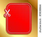 christmas red advertising... | Shutterstock .eps vector #85838866