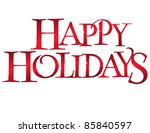classic holiday vector... | Shutterstock .eps vector #85840597