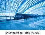 capital airport express train in beijing,China - stock photo