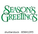 classic holiday vector... | Shutterstock .eps vector #85841395