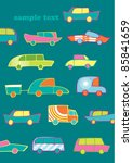 vector cars greeting card | Shutterstock .eps vector #85841659