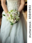 bouquet in the hands of the... | Shutterstock . vector #85849843