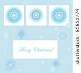 vector christmas card with... | Shutterstock .eps vector #85852774