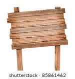 old wood sign isolated with... | Shutterstock . vector #85861462