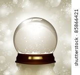 empty snowglobe against a... | Shutterstock .eps vector #85866421