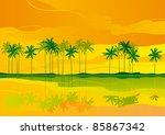 tropical dreams. horizontal... | Shutterstock .eps vector #85867342