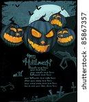 halloween vector series. vector ... | Shutterstock .eps vector #85867357