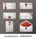 vector set of wax sealed... | Shutterstock .eps vector #85869694